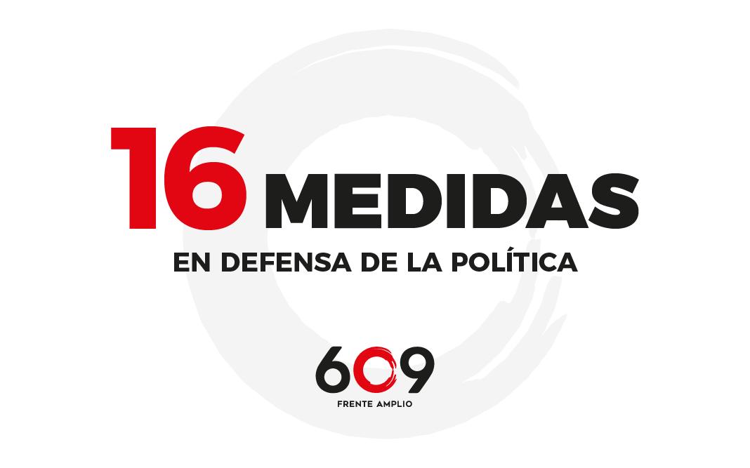 16 proyectos de ley en defensa de la política